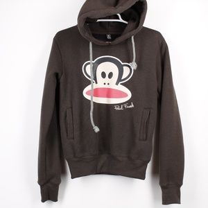 Paul Frank Monkey Brown Hooded Sweatshirt
